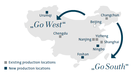 "The ""Go South"" and ""Go West"" strategies (map)"
