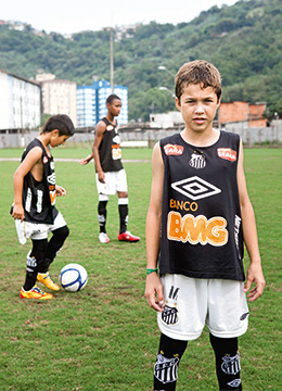 The up-and-coming footballers at FC Santos (photo)