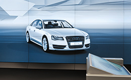 Audi S8 in a powerwall visualization (photo)