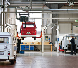 The VW Bus workshop in Hanover (photo)